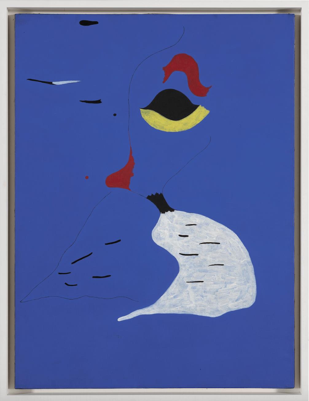 Joan Miró, Peinture (Femme au chapeua rouge), 1927, olie op doek, 130 x 97,2 cm. Lot verkocht voor 22,302,140 GBP