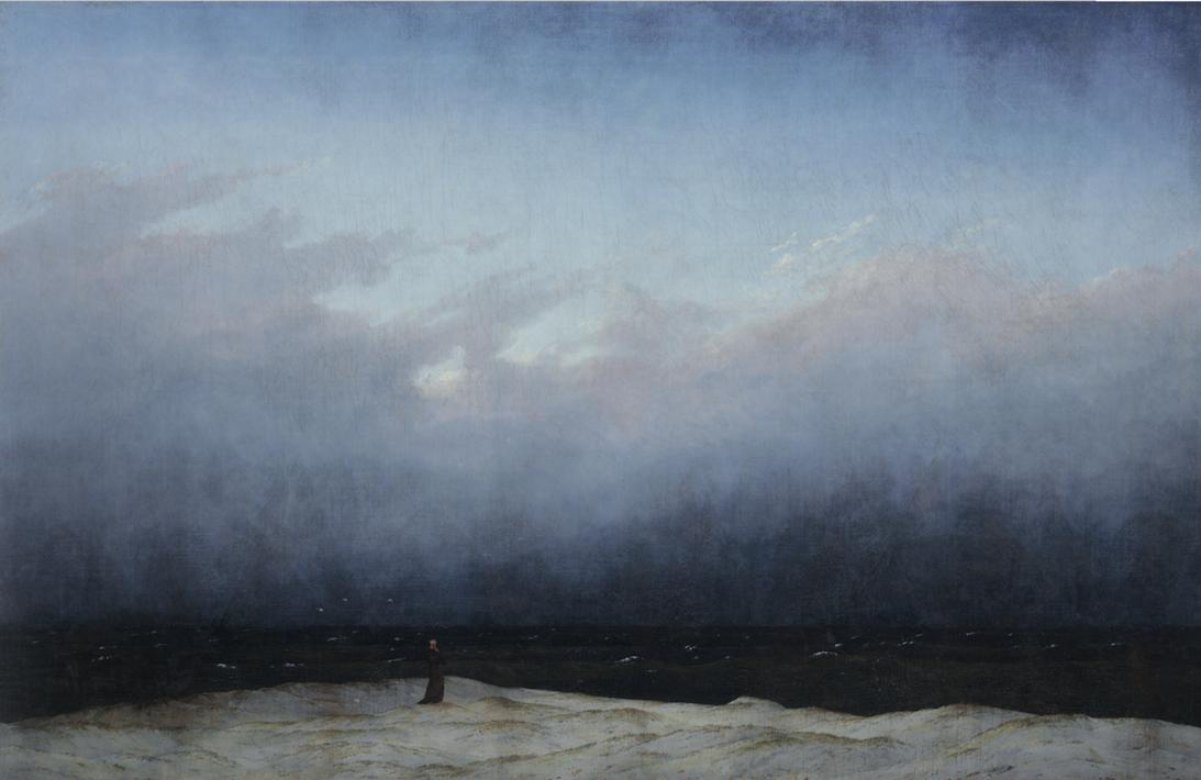 Caspar David Friedrich, Der Mönch am Meer, 1808-1810, olieverf op doek © Staatliche Museen zu Berlin, Nationalgalerie, Kristina Mösl, Francesca Schneider