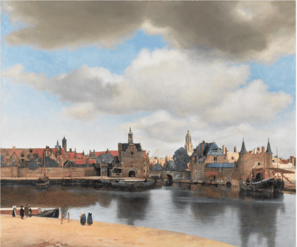 Johannes Vermeer, Gezicht op Delft, 1660-1661, olieverf op doek