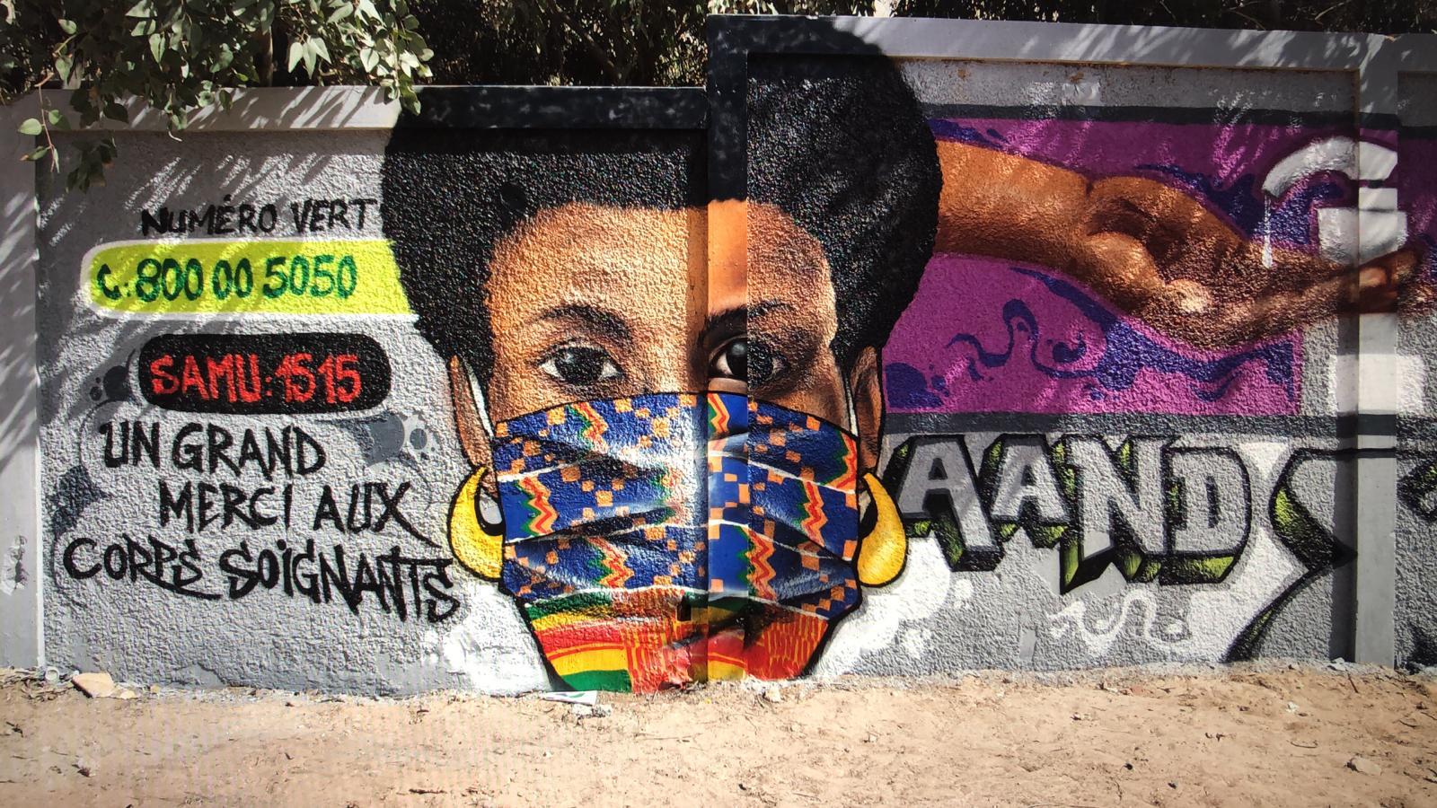 Street art in Dakar, Senegal foto Aida Grovestins