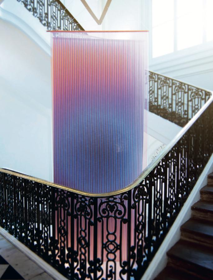 Rive Roshan, Trichroic Tapestries in Musée des Arts Décoratifs in 2015 foto Alessandro Brossollet