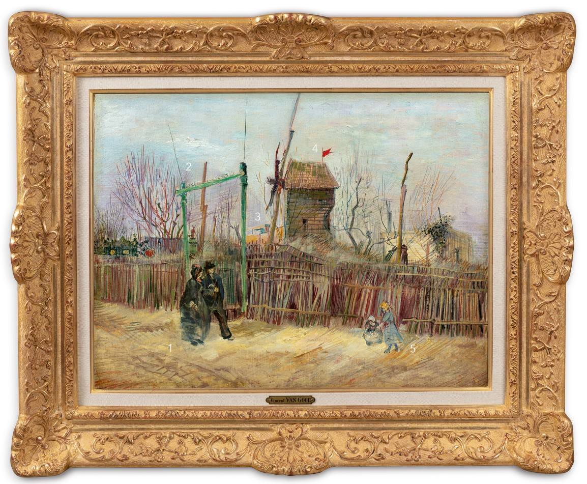 Vincent van Gogh, Scène de rue à Montmartre